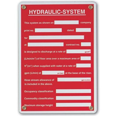 Hydraulic-System Sprinkler Sign