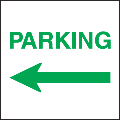 Standard A-Frame Parking Signs - Left Arrow
