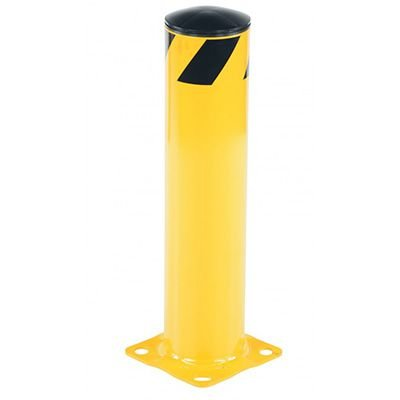 "Steel Pipe Safety Bollard 8"" Base x 5.5"" Dia"