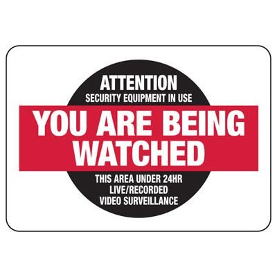Attention Security Equipment In Use - Vandalism Signs