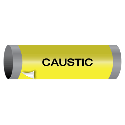 Ultra-Mark® Self-Adhesive High Performance Pipe Markers - Caustic