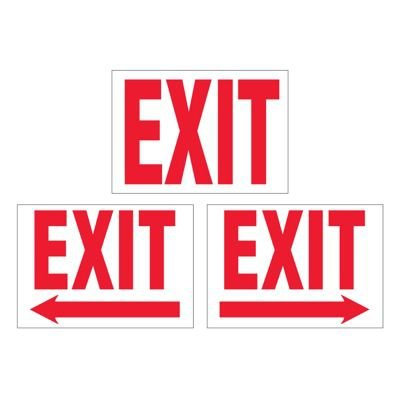 Ultra-Stick Signs - Exit