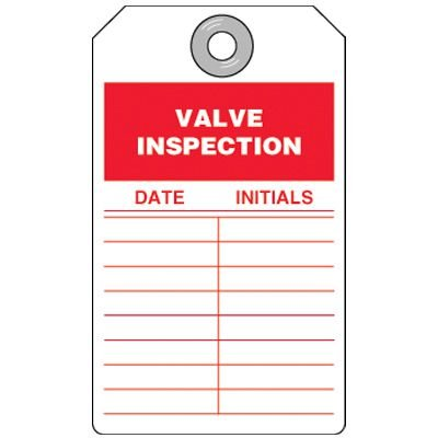 Valve Inspection Tag