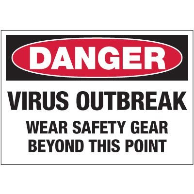 Wear Safety Gear Beyond This Point Label