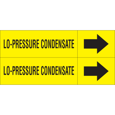 Weather-Code™ Self-Adhesive Outdoor Pipe Markers - Lo-Pressure Condensate