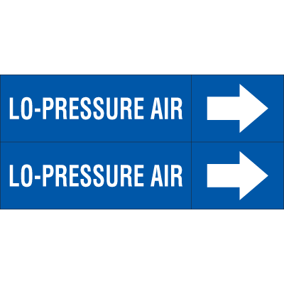 Weather-Code™ Self-Adhesive Outdoor Pipe Markers - Lo-Pressure Air