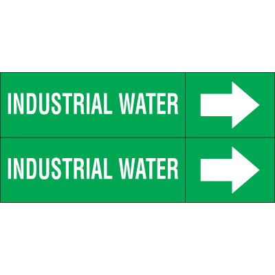 Weather-Code™ Self-Adhesive Outdoor Pipe Markers - Industrial Water
