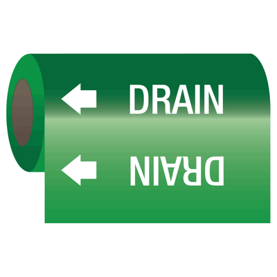 Wrap Around Adhesive Roll Markers - Drain