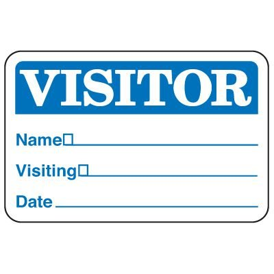 Write-On Visitor Badges
