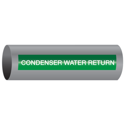 Xtreme-Code™ Self-Adhesive High Temperature Pipe Markers - Condenser Water Return
