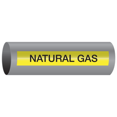 Xtreme-Code™ Self-Adhesive High Temperature Pipe Markers - Natural Gas
