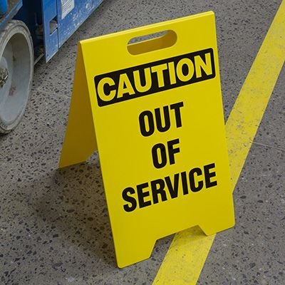 Out Of Service - Floor Stand