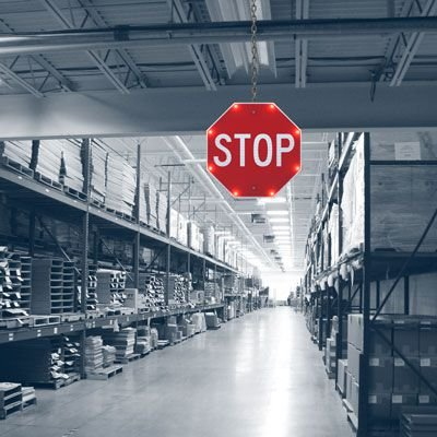 Indoor BlinkerStop® Flashing LED STOP Sign