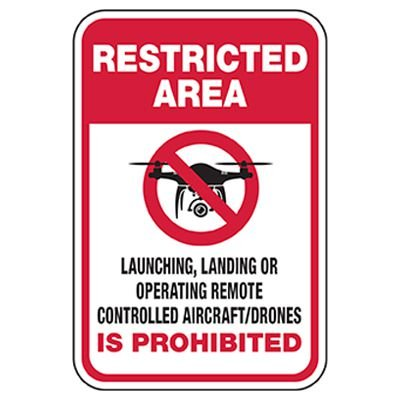 Restricted Area - Remote Control Drone Prohibited