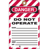 2-Part Lockout Key Tags - Do not operate