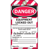 2-Part Production Status Tags - Danger Locked Out