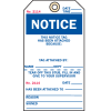 2-Part Production Status Tags - Notice