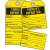 2-Part Production Status Tags - Forklift Repair