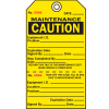 2-Part Production Status Tags - Caution Maintenance