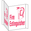 Fire Extinguisher Signs - 3 Way View