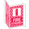 Fire Extinguisher 3-Way View Fire Safety Signs