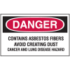 Hazard Warning Labels - Danger Contains Asbestos