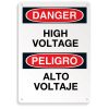 Bilingual Safety Signs - Danger High Voltage