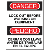 Bilingual Safety Signs - Danger/Peligro - Lock Out Before Working