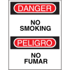 Bilingual Safety Signs - Danger No Smoking
