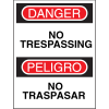 Bilingual Safety Signs - Danger/Peligro - No Trespassing