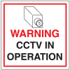 CCTV Warning Signs - In Operation