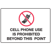 Cell Phone Notice Signs - Prohibited Cell Phone Use