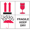 Fragile Keep Dry Combination Shipping Labels