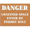 Confined Space Stencils - Danger - Enter By Permit Only