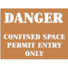 Confined Space Stencils - Danger - Permit Entry Only