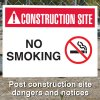Construction Site Safety Signs - No Smoking with Graphic