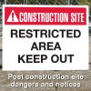 Construction Site Safety Signs - Restricted Area Keep Out