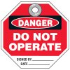 Danger Do Not Operate Signed By - Octa-Heavy Duty Plastic Tags