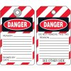 Danger Do Not Remove Tag - Self-Laminating Lockout Tag