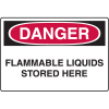 Danger Signs - Flammable Liquids Stored Here