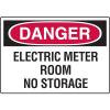 Danger Signs - Electric Meter Room No Storage