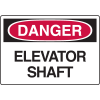 Danger Signs - Elevator Shaft