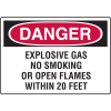 Danger Signs - Explosive Gas No Smoking Or Open Flames