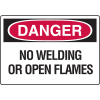 Danger Signs - No Welding Or Open Flames