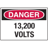 OSHA Danger Signs - 13,200 Volts