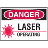 Danger Signs - Laser Operating
