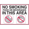 Deluxe Housekeeping And Cafeteria Signs - No Smoking In This Area