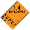 1.4 DOT Explosive Placard Systems