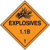 1.1B DOT Explosive Placards