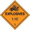1.1C DOT Explosive Placards